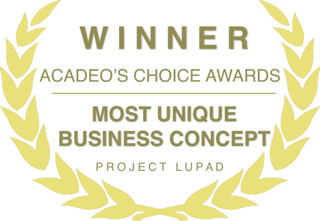 Most Unique Businesss Concept in ACADEO's Choice Awards.