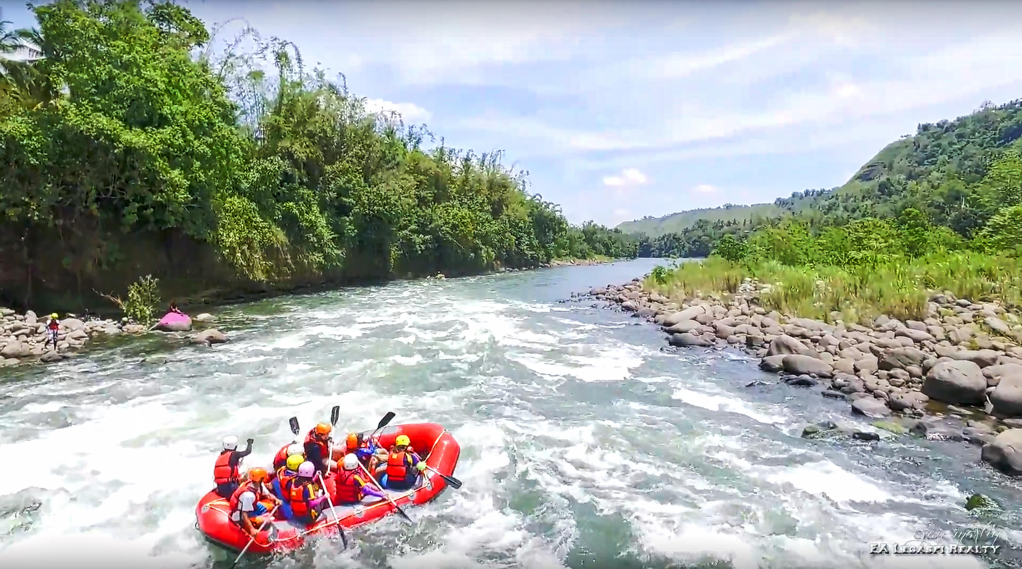 VIDEO White Water Rafting In Cagayan De Oro River Aerial Tour
