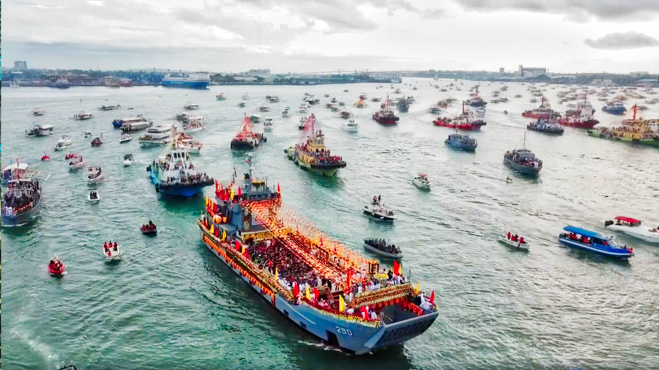 Video Sinulog 2018 Fluvial Procession Aerial Coverage
